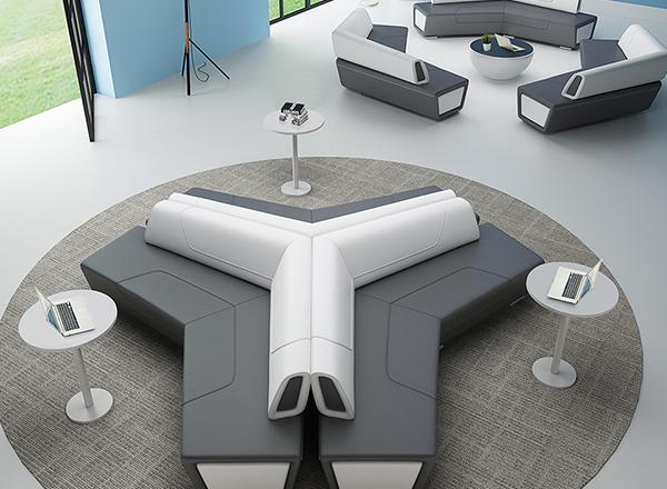 餐厅异形沙发