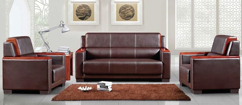 实木办公沙发