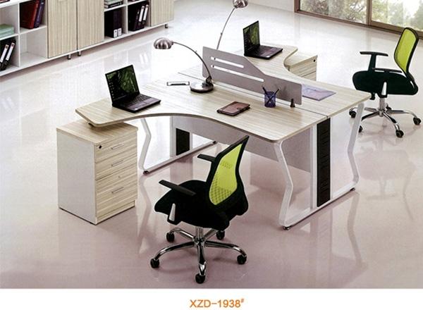 简约两人办公桌椅